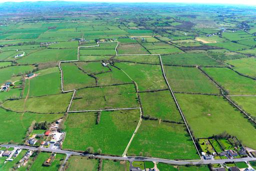 An aerial view of the 106ac holding for sale at Grange, Co Limerick.