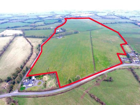 The residential farm and land at Piercetown in Co Meath which sold last week.