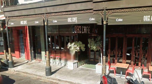 The cafe in Cape Town where the activists left a message Google Street View