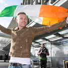 Nicky Byrne pictured in Dublin Airport Prior to his departure to Represent Ireland in The Eurovision Song Conters in Sweden. Photo: Kyran O'Brien