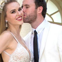 Former Blue Peter presenter and Miss Northern Ireland Zoe Salmon has married in an intimate ceremony in Barbados. Photo: Hello magazine