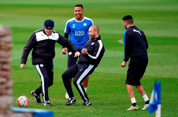 Leicester City's manager Claudio Ranieri during a training session at Belvoir Drive Training Ground, Leicester. PRESS ASSOCIATION Photo. Picture date: Tuesday May 3, 2016. Photo credit should read: Joe Giddens/PA Wire