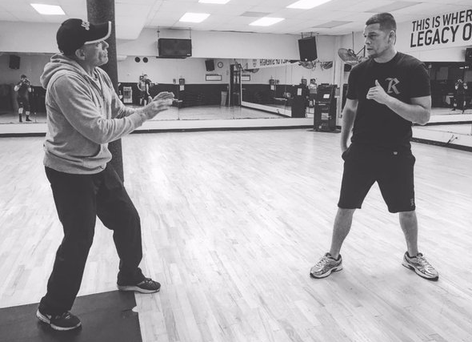 Jean Claude Van Damme and Nate Diaz. Courtesy of Nate Diaz's Twitter account.