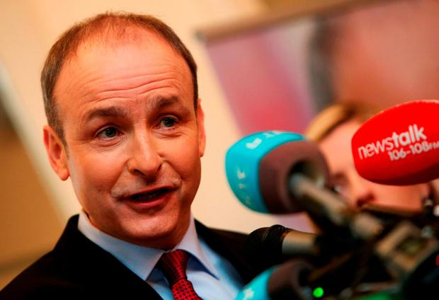 'Micheál Martin's pious reassurances that his party were repentant and reformed, having learned from their 'mistakes', were shown to be a sham, utterly insincere.' Photo: Brian Lawless/PA Wire