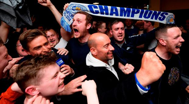 Leicester City fans celebrate winning the 2015–16 Premier League title (Getty Images)