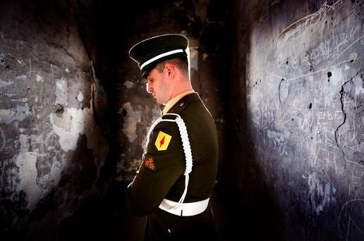 Gunner Shane Lennon from 2 Artillery Regiment, Custume Barracks. Picture: Gerry Mooney