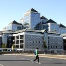 Ulster Bank headquarters in Dublin - Cairn Homes took control of the sites as part of its purchase of the Project Clear portfolio of Ulster Bank loans.
