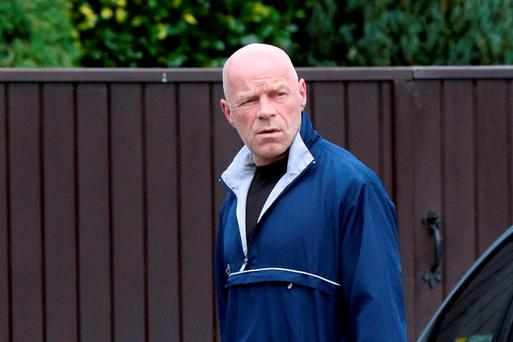 Convicted rapist Michael Murray walking near his home near UCD Dublin