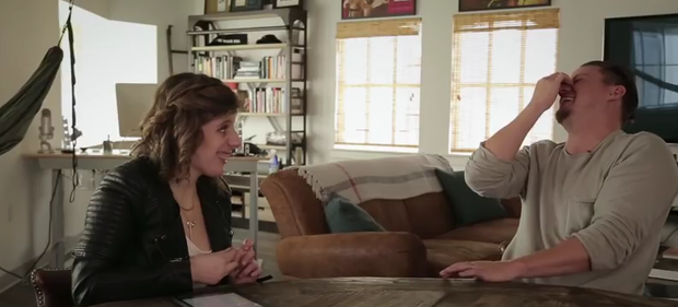 Carly Fleischmann interviews Channing Tatum. Photo: YouTube