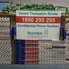 The combined retail value of the cigarettes and tobacco seized is around €11,000.