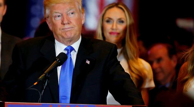 Republican US presidential candidate and businessman Donald Trump pauses as he speaks to supporters after his rival, Senator Ted Cruz, dropped out of the race for the Republican nomintion following the results of the Indiana state primary, at Trump Tower in Manhattan, New York. Reuters/Lucas Jackson