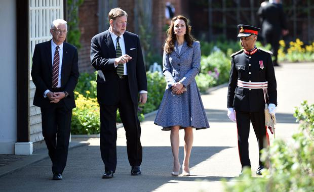 Kate Middleton officially opens The Magic Garden At Hampton Court Palace on May 4, 2016 in London, England. (Photo by Stuart C. Wilson/Getty Images)