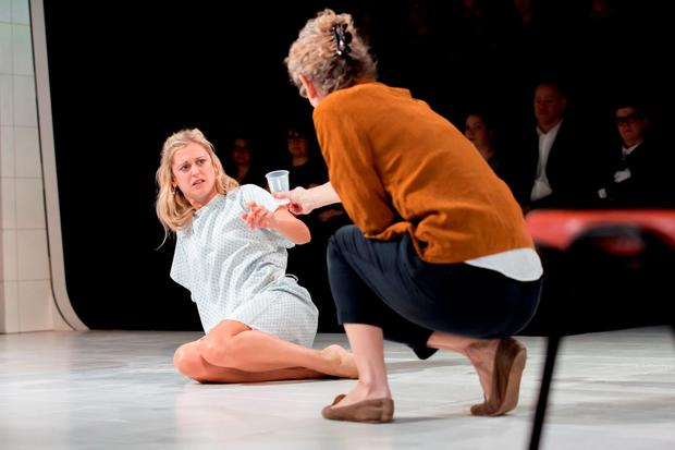 Denise Gough as Barbara Marten in People, Places and Things by Duncan Macmillan. Photo: Johan Persson.