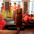 Passion: Lisa with models showcasing her Baroque collection in 2014