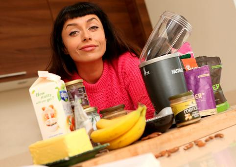 Better the devil you know: Katie Byrne thought she was being healthy with her Nutribullet and healthy snacks, until she put on a stone in weight Photo: Gerry Mooney.