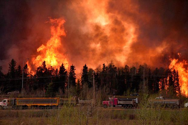 Wildfire is worsening along highway 63 Fort McMurray, Alberta, Canada Terry Reith/CBC News/Handout via REUTERS