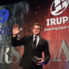 4 May 2016; Munster and Ireland's CJ Stander after being presented with the Zurich IRUPA Players' Player of the Year 2016 award. Hilton by Double Tree, Ballsbridge, Dublin. Picture credit: Ramsey Cardy / SPORTSFILE