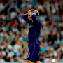 Manchester City's goalkeeper Joe Hart gestures during the UEFA Champions League semi-final second leg football match Real Madrid CF vs Manchester City FC at the Santiago Bernabeu stadium in Madrid, on May 4, 2016. / AFP PHOTO / JAVIER SORIANOJAVIER SORIANO/AFP/Getty Images
