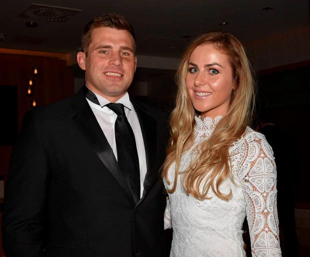 CJ Stander and his wife Jean Marie at The Zurich IRUPA Rugby Players Awards 2016 at the Doubletree Hilton, Dublin, Ireland - 04.05.16. Pictures: Cathal Burke