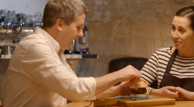 Philip Boucher Hayes tucked into a cricket and mealworm burger on RTE last night