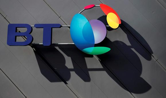 BT Ireland's parent group filed increased earnings of £6.58bn (€8.34bn) while revenue jumped 6pc to £18.91bn. Photo: Reuters