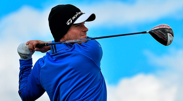 'The 22-year-old from Naas holed a 60-yard lob wedge for eagle three at the sixth' 2015 Photo: Sportsfile