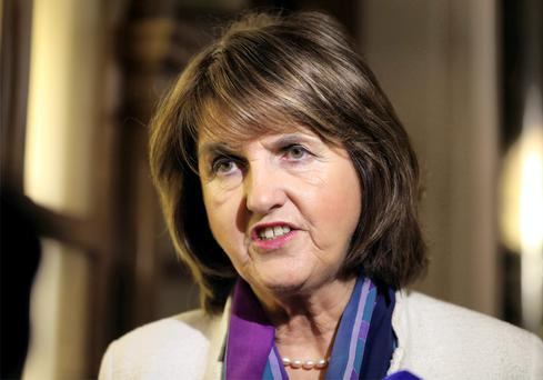 The protest delayed Tánaiste Joan Burton for about two hours. Photo: Frank Mc Grath