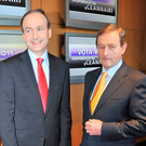 Micheál Martin and Enda Kenny Photo: Barbara Lindberg.