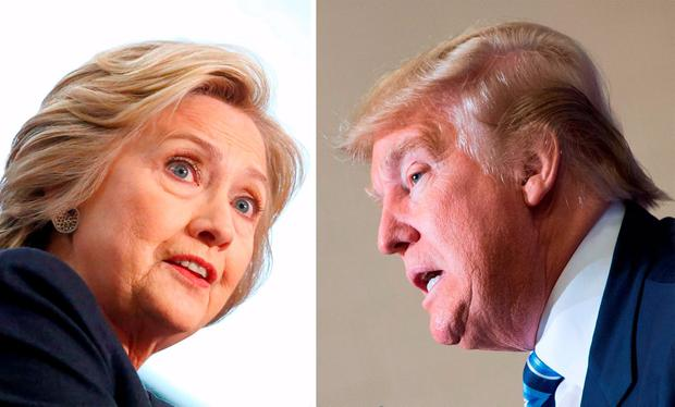 'I'm glad I'm not a US citizen, and that I won't be asked to choose between these two appalling candidates on November 8.' Photo: AFP/Getty
