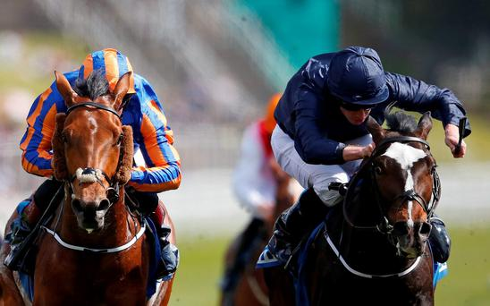 US Army Ranger and Ryan Moore (right) edge out Port Douglas at Chester (Getty Images)