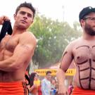 Zac Efron and Seth Rogen sporting their six packs in Bad Neighbours 2