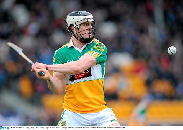 Michael Verney in action for Offaly