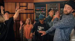 Justin Timberlake in the Can't Stop The Feeling video