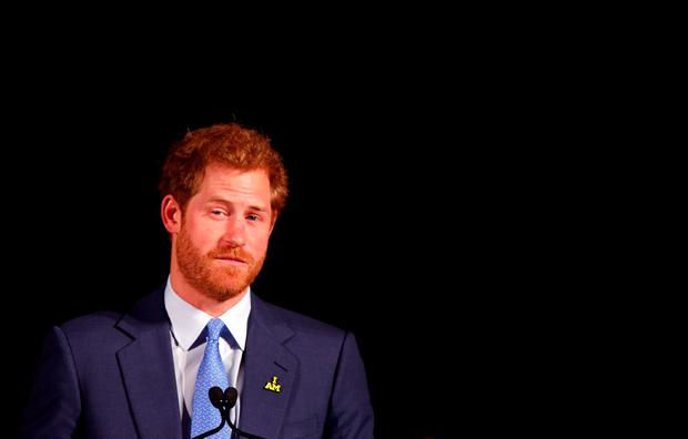 Prince Harry speaks as he attends the official media launch for Invictus Games Toronto 2017, at the Concert Hall in the Royal York Hotel, Toronto. Photo: Peter Byrne/PA Wire