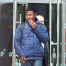 Abou Bacar Toure, Mountjoy Sq. charged with offensive conduct, criminal damage and theft pictured leaving The Dublin District Courts at The CCJ
