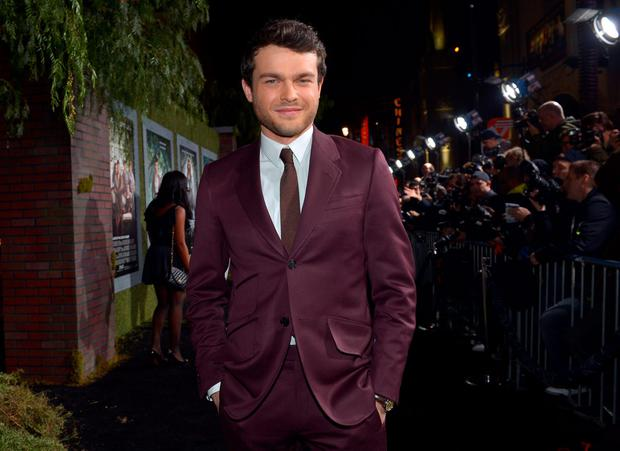 HOLLYWOOD, CA - FEBRUARY 06: Actor Alden Ehrenreich attends the Los Angeles premiere of Warner Bros. Pictures'
