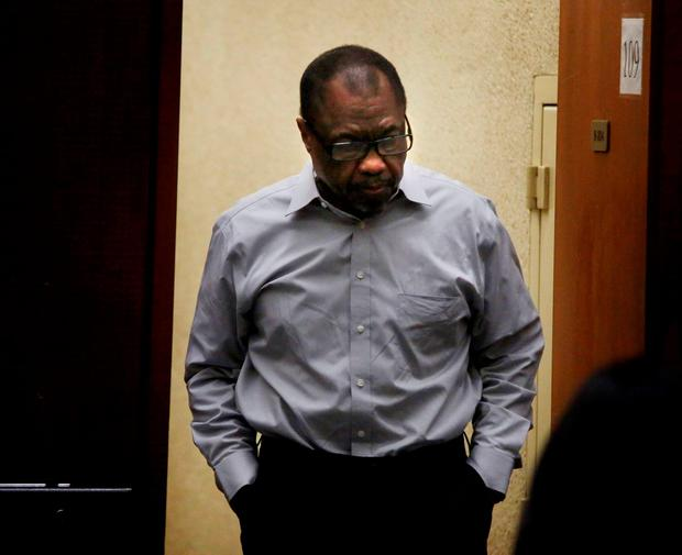 After a day and a half of deliberations, jurors found Lonnie Franklin Jr. guilty of 10 counts of murder in the killings of nine women and a 15-year-old girl. Jurors also found Franklin guilty of one count of attempted murder in Los Angeles, California May 5, 2016. REUTERS/Barbara Davidson/Pool