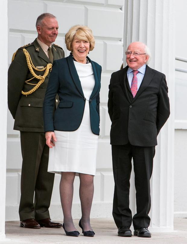 Sabina and President Michael D Higgins (Photo: Kyran O'Brien)