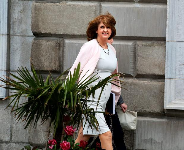 Labour Party leader and outgoing Tanaiste Joan Burton,TD at Leinster House for theelection of Enda Kenny as Taoiseach Pic: Tom Burke
