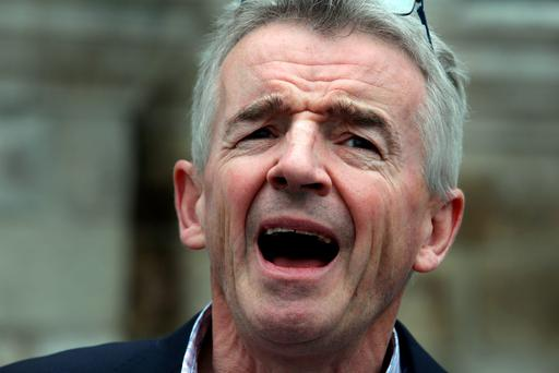 On yer bike: Ryanair boss Michael O'Leary.