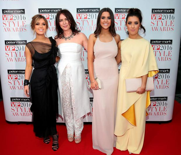 Bonnie, Morah, Babette and Lotti Ryan at The Peter Mark Vip Style Awards 2016 at the Marker Hotel,Dublin. Pictures:Brian McEvoy