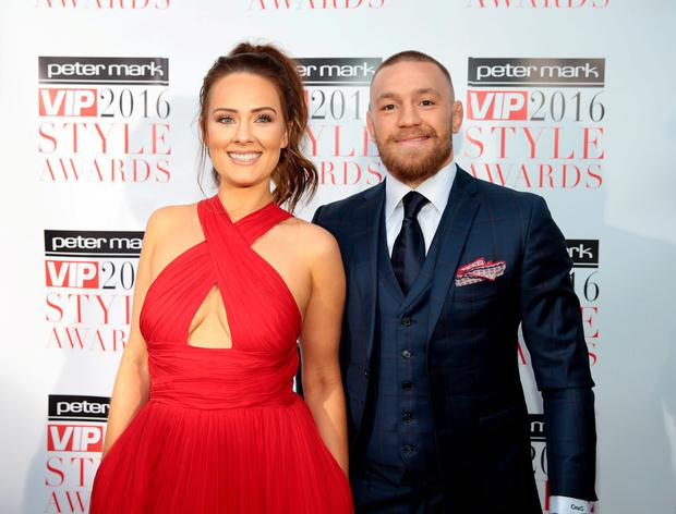 Dee Devlin and Conor McGregor at The Peter Mark Vip Style Awards 2016 at the Marker Hotel,Dublin. Pictures:Brian McEvoy