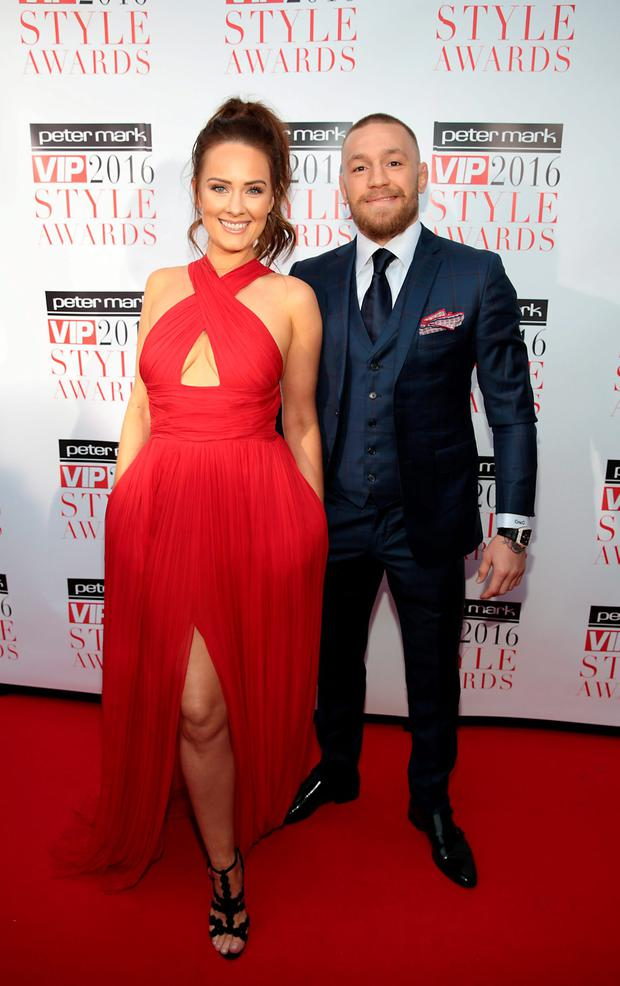 Dee Devlin and Conor McGregor at The Peter Mark Vip Style Awards 2016 at the Marker Hotel,Dublin.