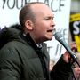 Paul Murphy speaking at a protest outside the Dáil Photo: Justin Farrelly