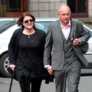 Patricia and Martin Walsh, from Co Clare, leaving the High Court yesterday Photo: Collins Courts