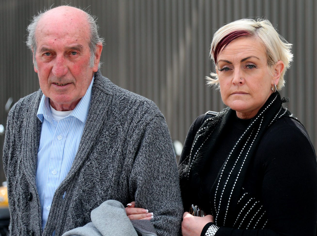 Dave Mahon's father Michael and Mahon's wife Audrey leave court Photo: Colin Keegan, Collins Dublin