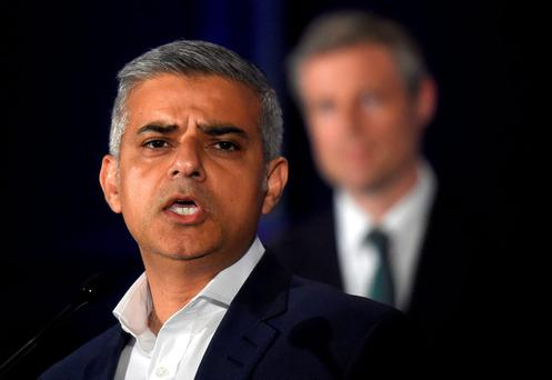 Sadiq Khan, Britain's Labour Party candidate for Mayor of London, speaks following his victory in the London mayoral election at City Hall. Photo: Reuters
