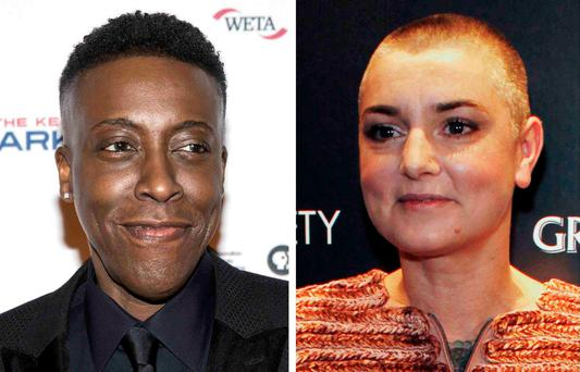 Comedian Arsenio Hall is shown in Los Angeles, California, October 19, 2015 and Irish recording artist Sinead O'Connor is shown in New York, December 14, 2011 in this photo. REUTERS/Joshua Roberts, Eduardo Munoz/File Photos