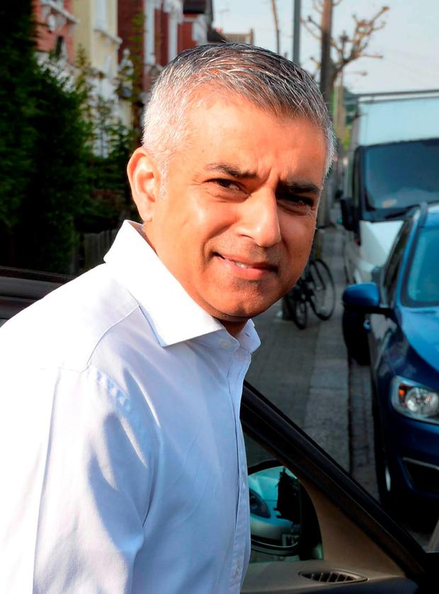 Newly elected Mayor of London Sadiq Khan leaves his home in south London. John Stillwell /PA Wire