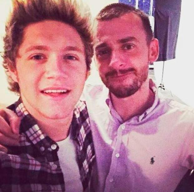Niall Horan shared a pic of himself with Matt Irwin to Instagram